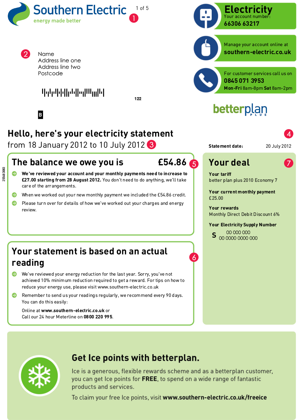 Electric Bill I ~ Sse bill explained myutilitygenius