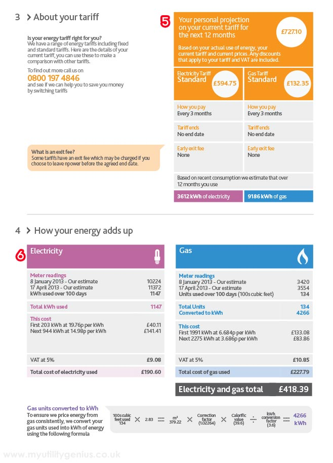 NPower Bill Explained - MyUtilityGenius